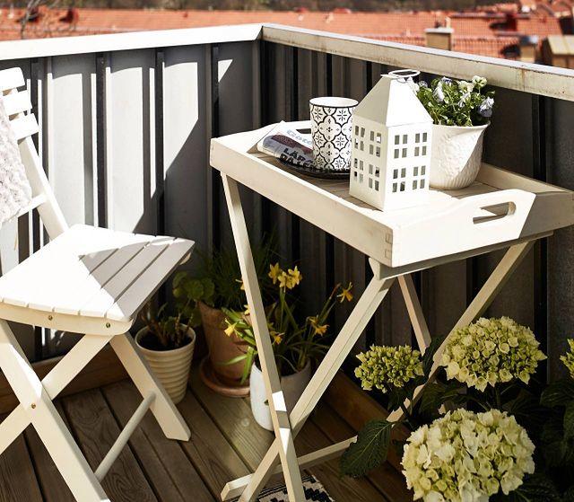 Pomysł na mały balkon - inspiracje