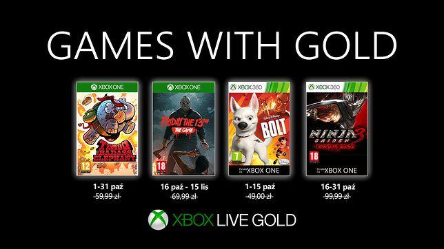Xbox Live Gold: październikowa oferta darmowych gier w Games with Gold