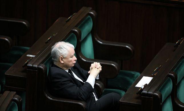 Jarosław Kaczyński w Sejmie, 6 kwietnia 2020 r.
