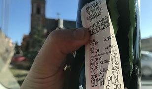 """Zakup w sklepie żony posła: napój Monster na paragonie został opisany jako """"soki"""". Zysk na VAT to 89 groszy"""