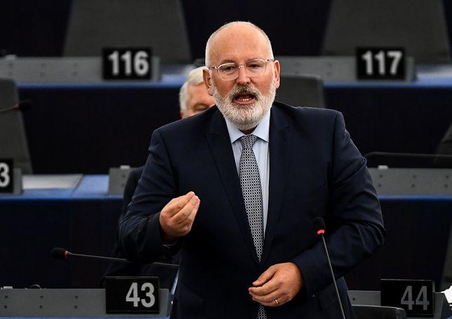 Frans Timmermans zabrał głos podczas posiedzenia komisji prawnej PE