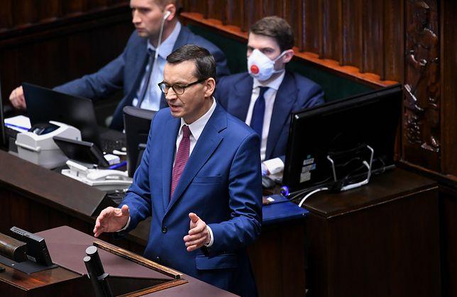Koronawirus w Polsce. Mateusz Morawiecki wystąpił w Sejmie.