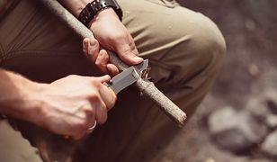 Nóż dla trapera. Doskonały do obozowych prac