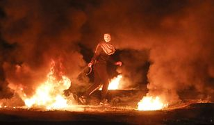 """Członek """"oddziału chaosu"""" w Strefie Gazy"""