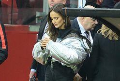 Marina Łuczenko-Szczęsna w szaliku Diora. Wszyscy i tak patrzyli na jej buty