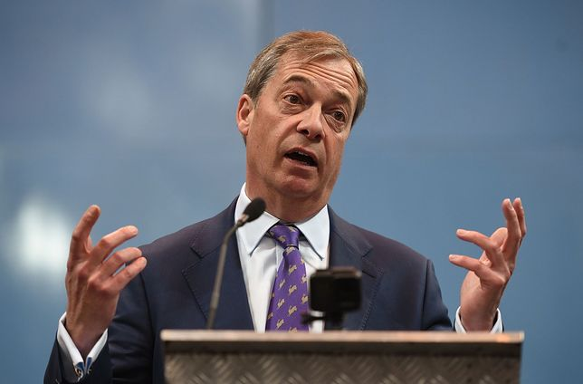 Nigel Farage podczas kongresu Partii Brexitu