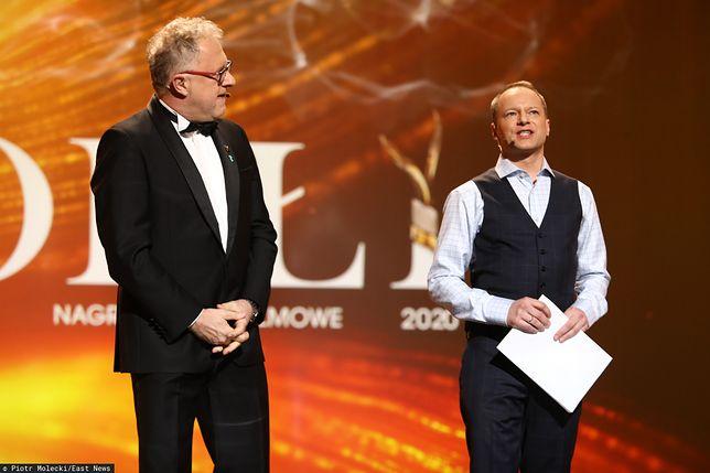 Orły są polskim odpowiednikiem Oscarów. Maciej Stuhr jako prowadzący galę (po prawej), obok Dariusz Jabłoński, prezydent Polskiej Akademii Filmowej