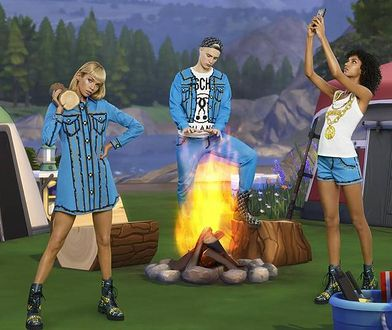 Fragment kolekcji Moschino X The Sims