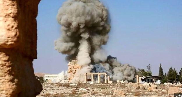IS opublikowało zdjęcia ze zniszczenia świątyni w Palmyrze