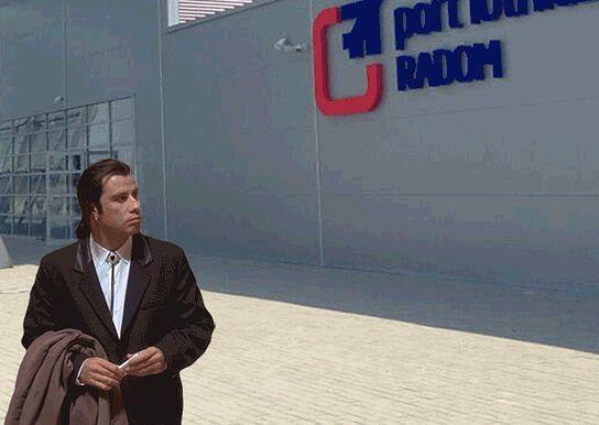 Port Lotniczy w Radomiu stał się obiektem żartów internautów, także obrazkowych