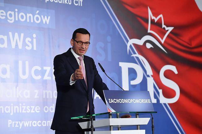 Premier Mateusz Morawiecki przemawiał podczas konwencji wojewódzkiej PiS w Szczecinie