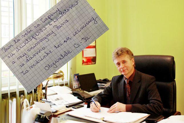 Burmistrz Czechowic-Dziedzic Marian Błachut otrzymał list z pogróżkami