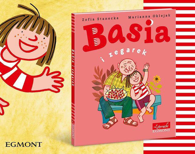 """Okładka książki """"Basia i zegarek"""""""