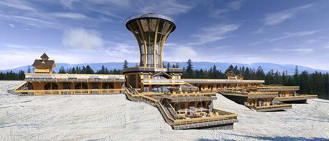 Wizualizacja wieży widokowej, która miałaby powstać na Gubałówce