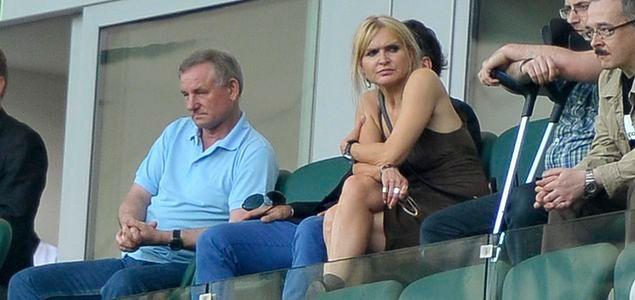 Monika Olejnik na meczu Legii