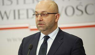 Były podsekretarz stanu Łukasz Piebiak