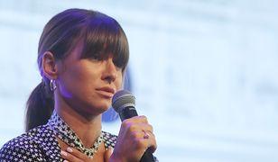 Anna Lewandowska utknęła w korku w Warszawie