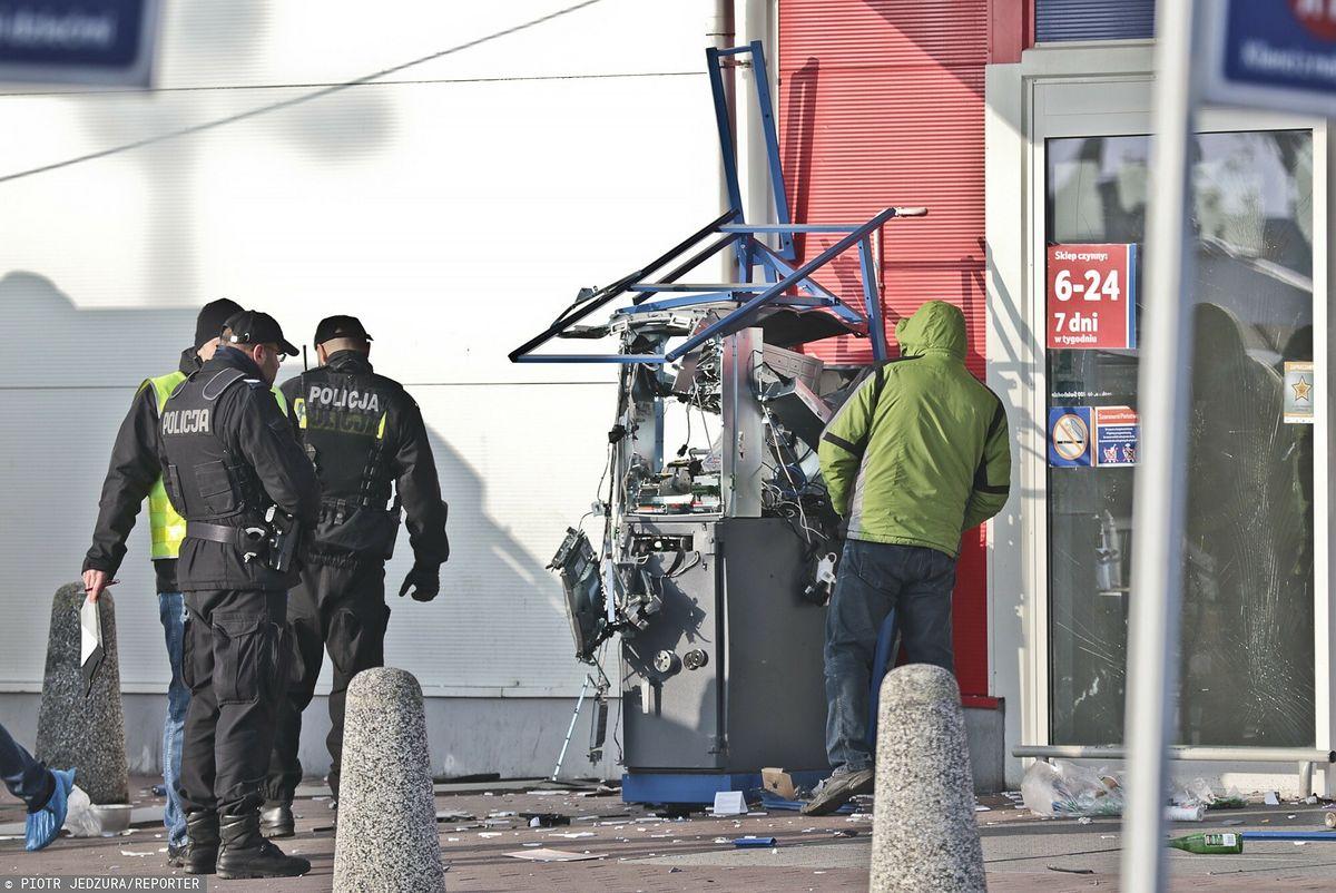 Wysadzenie bankomatu (zdjęcie ilustracyjne)