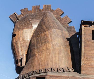 Drewniany koń trojański jest swoistym symbolem starożytnej cywilizacji trojańskiej