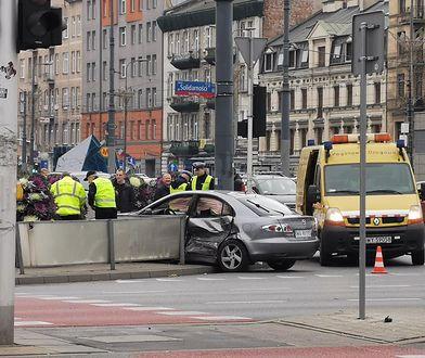 Warszawa. Do groźnego wypadku doszło w sobotę przed południem przy Dworcu Wileńskim na Pradze-Północ