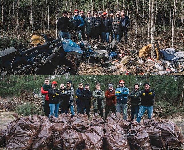 Prywatny las w podwarszawskim Celestynowie przed i po wizycie redakcji WP