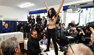 Przy urnie na Silvio Berlusconiego czekała aktywistka Femen