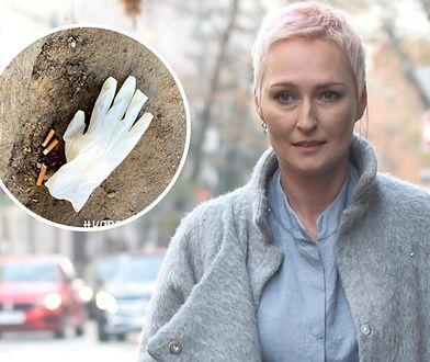 Anita Lipnicka podzieliła się widokiem rękawiczki rzuconej obok chodnika