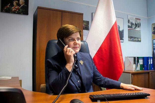 Beata Szydło podczas rozmowy z Angelą Merkel