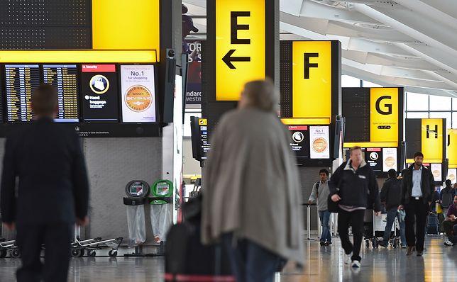 Lotnisko Heathrow za zachodzie Londynu