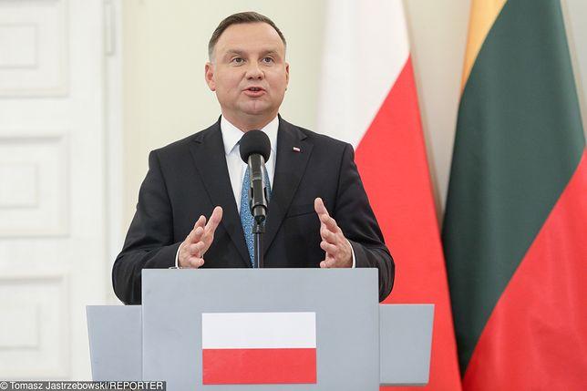 """Prezydent Andrzej Duda skrytykował KE za """"ingerencję w polski system sądowy"""""""