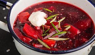 Składnikami barszczu ukraińskiego są przede wszystkim warzywa i owoce