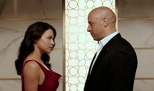 Michelle Rodriguez i Vin Diesel fot. UIP
