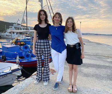 Gosia Jurny z córkami
