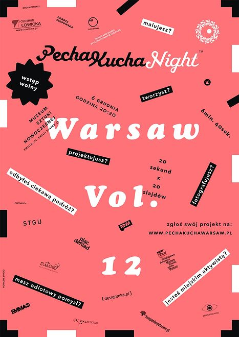 Za darmo: PechaKucha Night Warsaw vol. 12