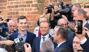 Donald Tusk podczas wizyty w Krakowie 6 października 2018 r.