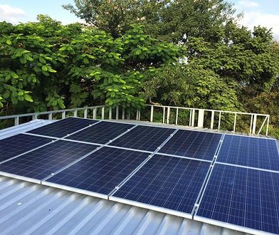 Instalacja na dachu UM będzie pozyskiwała energię o mocy prawie 50 kW.