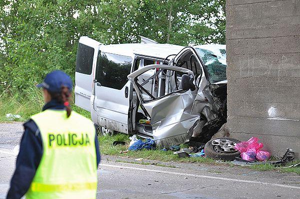 Wypadek busa w woj. zachodniopomorskim