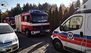 Na miejsce dotarła straż pożarna i medycy z Legionowa