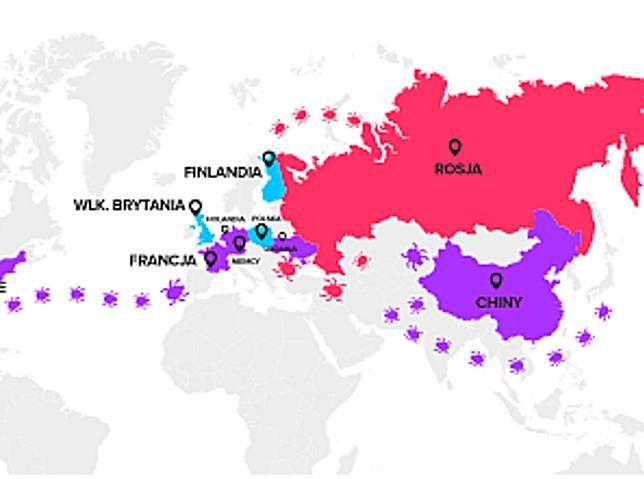 Źródła cyberataków na Polskę