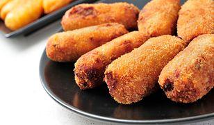 Krokiety grzybowe z brązowym ryżem