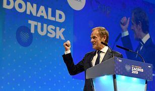 Donald Tusk podczas wyborów szefa EPL w Zagrzebiu