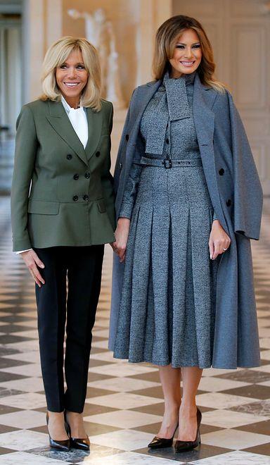 Melania Trump towarzyszy mężowi we Francji