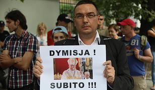 Protest przed siedzibą Nuncjatury Apostolskiej w Warszawie