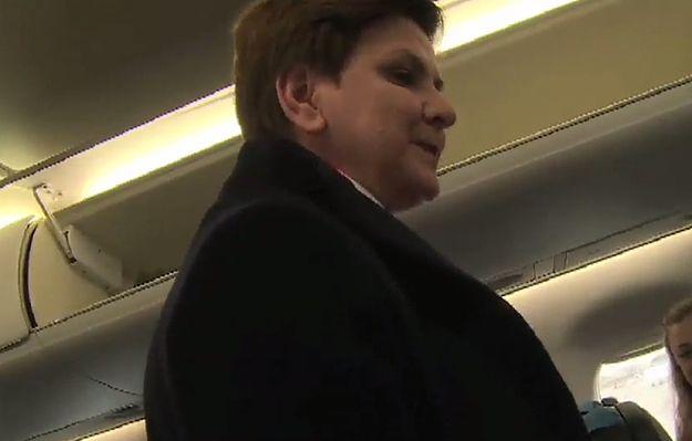 Beata Szydło w samolocie: zaczynam się zastanawiać, czy jesteśmy premierem Europy, czy jesteśmy premierem Polski