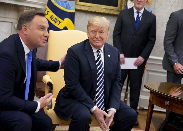 Prezydent Andrzej Duda spotkał się z Donaldem Trumpem
