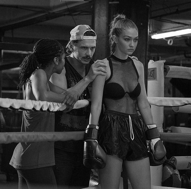 Gigi Hadid i James Franco na planie sportu reklamowego