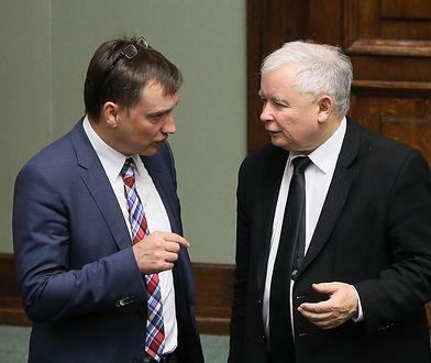 Prezes PiS Jarosław Kaczyński i minister sprawiedliwości Zbigniew Ziobro