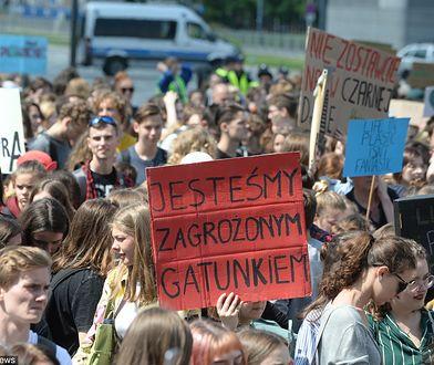 Młodzieżowy Strajk Klimatyczny w Warszawie