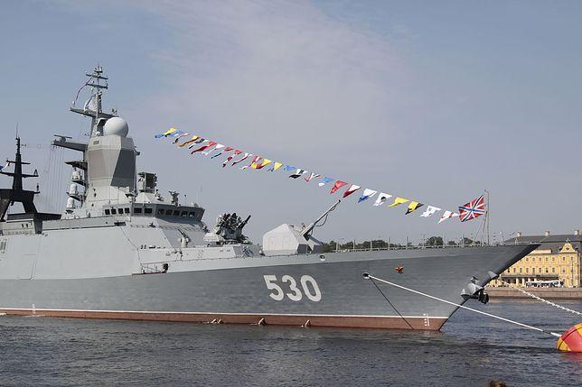 Rosyjskie okręty biorą udział w manewrach Zapad-2017