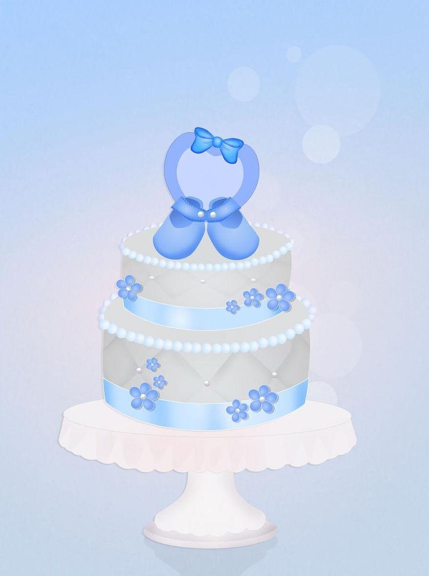 Tort dla chłopczyka może mieć niebieskie dekoracje